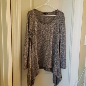 Sparkly Silver and Black Tunic